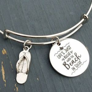Jewelry - Life's just right with the beach in sight bracelet